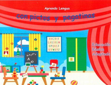 Aprendo Lengua pictos pegatinas edu basica adaptada H
